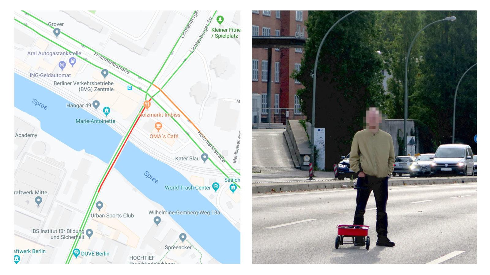 Google Maps Traffic Jam
